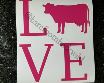 Cow Love Decal