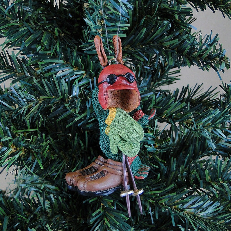 Russ Berrie Christmas Tree Sport Ornament Helmet Ski Pole Boots Mittens Scarf Vintage Style
