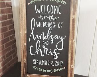 Chalkboard Signage; Wedding Signage; Custom Wedding Signage; Hand-lettered Signs