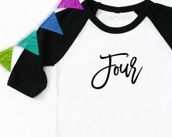 Four Raglan Shirt, Four Birthday Shirt, Boy Birthday Shirt, Fourth Birthday Shirt, Four Birthday Outfit, 4th Birthday, 4th Birthday Shirt
