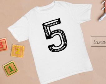 5th Birthday Outfit, 5th Birthday Shirt, Five Shirt, Birthday Boy Outfit, Birthday Girl Outfit, Cake Smash, Fifth Birthday Shirt, ANY AGE