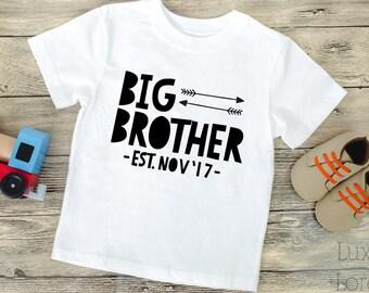 Big Brother Shirt Sibling Shirts Boy Big Brother Bodysuit Big Bro Shirt Announcement shirt Sibling Announcement Big Brother Tshirt