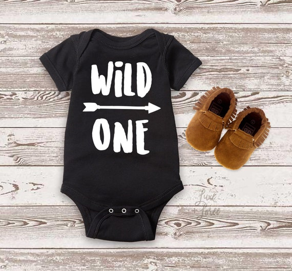 Wild One Boy Birthday Shirt 1st