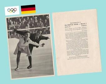 Karl Schaefer Skater Austria Near Mint Muhlen Franck Trading Card #8a-6 1936 Garmisch Olympics