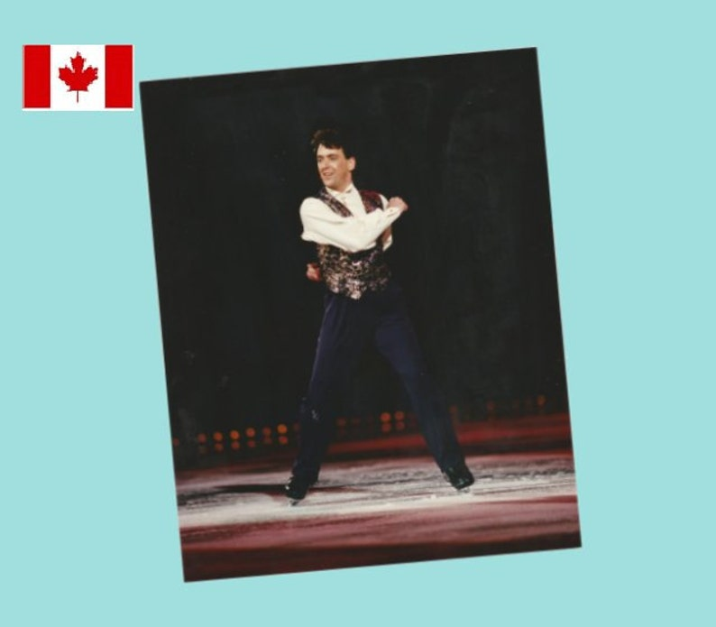 Mint 1995 Stars On Ice 8x10 Publicity Photograph Brian Orser World /& 8 Time Canadian Champion!