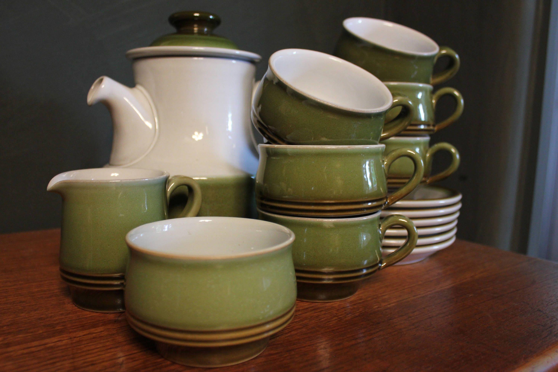Vintage Denby Stoneware Tea Set c.1970   Etsy