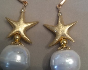 Earrings with Star