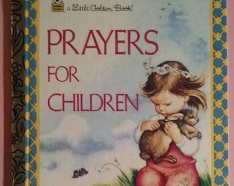 """a Little Golden Book - """"Prayers For Children"""" 1982"""
