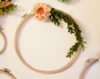 Floral Hoop Wreath / 10 inch Hoop Wreath / OhSoFrancie