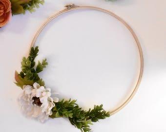 Floral Hoop Wreath / 12 inch Hoop Wreath / OhSoFrancie