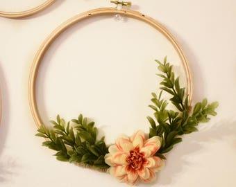 Floral Hoop Wreath / 8 inch Hoop Wreath / OhSoFrancie