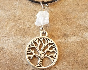 Tree of Life Antique Silver Tone Necklace