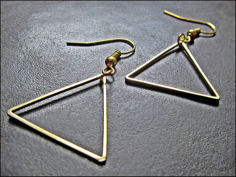 Golden triangles Earrings image 0