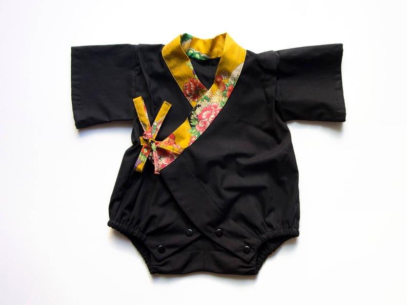67510bcdb Handmade kimono romper baby kimono baby jinbei new baby | Etsy