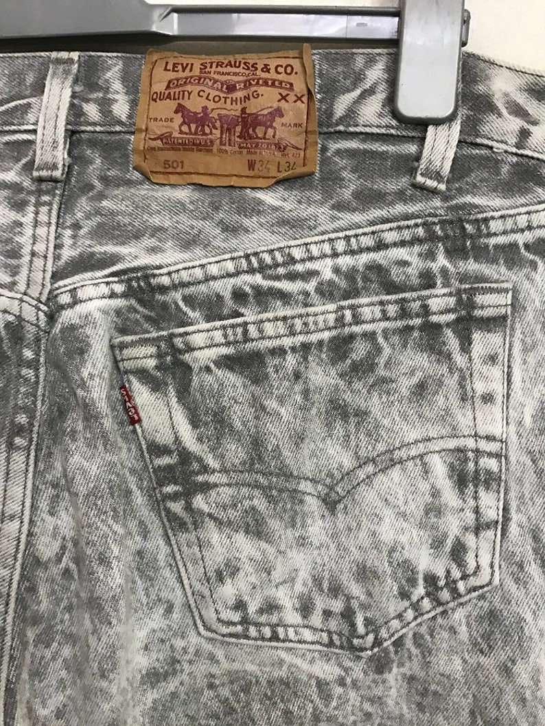 a3ab693558 RARE Vintage 80s 90s Levi s 501 Made in Usa Acid Washed
