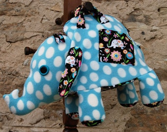 Handmade Cuddly Polka Dot Elephant Bag
