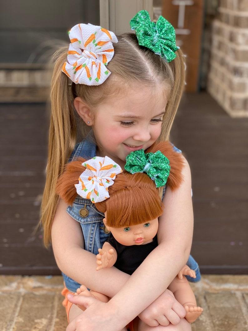 messy bow headband Cottontail Crunch piggy set mini messy bow messy bow headband baby headband piggies