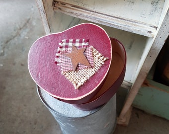 Wooden*box*mini*country*primitive*handpainted