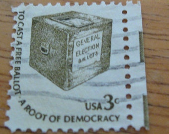 to cast a free ballot  a  root of democracy 3 cent stamp