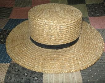2663459a Amish natural straw hats size small