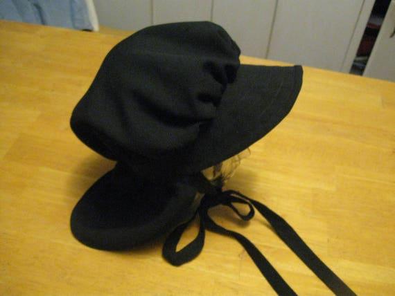 Handmade women Black Mennonite Bonnet Style Black Amish  0a742d4350e