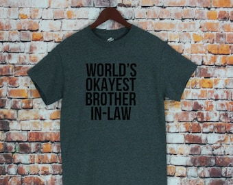 World\'s Okayest Brother T-shirt Funny Christmas Gifts | Etsy