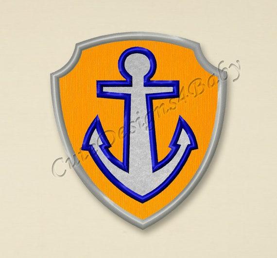 SALE Zuma Badge Applique Embroidery Design Paw Patrol