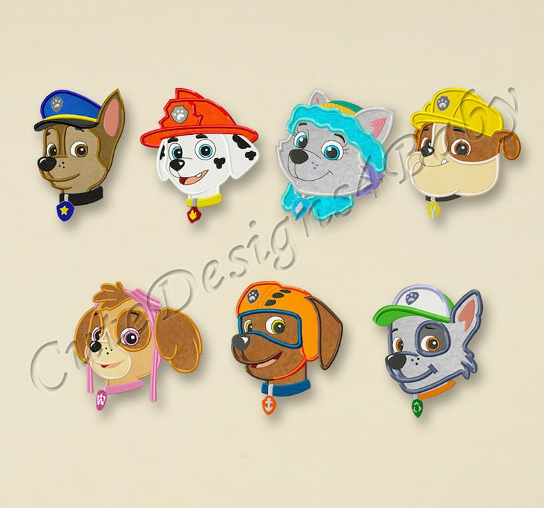 #079 Paw Patrol Machine Embroidery Designs Paw Patrol Skye Third birthday applique embroidery design Embroidery designs baby SALE