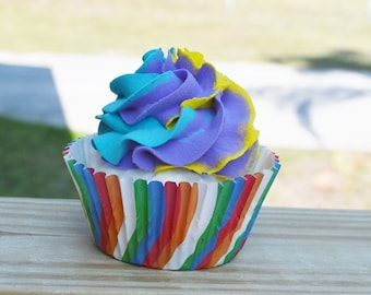 Fake Multi-Colored Cupcake