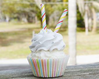 Striped cupcake (fake)