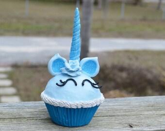 Blue Unicorn Cupcake (fake)