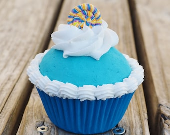 One Blue Fake Cupcake