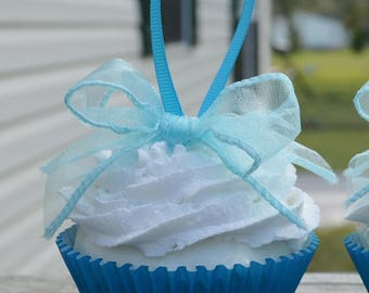Blue Cupcakes ornaments (fake)
