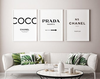 Fashion Print Set, Chanel Decor, Wall Decor, Chanel, Chanel Print, Wall  Art, Chanel Decor, Chanel Print, Home Decor, Chanel Print Set