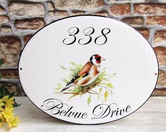 Gold Finch House Sign, Goldfinch Address Sign, Bird Decor Signs, Custom House Sign, Bird Custom Plaque, Custom Address Plaque, Bird Wall Art