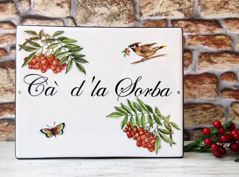 Birds and Berries House Sign, Square House Sign, House Name Plaque, Home  Address Sign, Custom House Sign, Bird House Plaque Street Name Sign