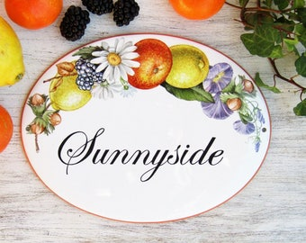 Floral House Sign, Outdoor House Plaque, Name House Sign, Custom House Signs, Outdoor Custom Sign for Home, Family Sign, Custom Address Sign