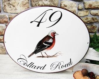 Chaffinch House Name Plaque, Bird Sign, Bird Decor Sign, Custom House Plaque, Outdoor Address Sign, Customized Plaque Custom Address Plaque