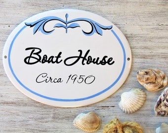 Seaside Cottage Sign, Beach House Signs, Coastal Decor, Marina Sign, Custom Beach Sign, Pool Signs, Wall Hanging Signs, Beachy Style Sign