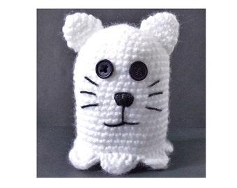Halloween Cat Ghost PDF Crochet Pattern