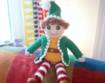 Alfie the Elf PDF Crochet Pattern