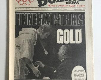Boxing news november 1 finnegan mexico olympics 1968 gold