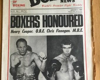 Boxing news january 3 1969 henry cooper chris finnegan