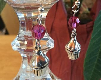 Cutie pie cupcake earrings