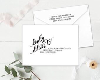 Wedding Envelopes Diy Wedding Envelope Addressing Template Etsy