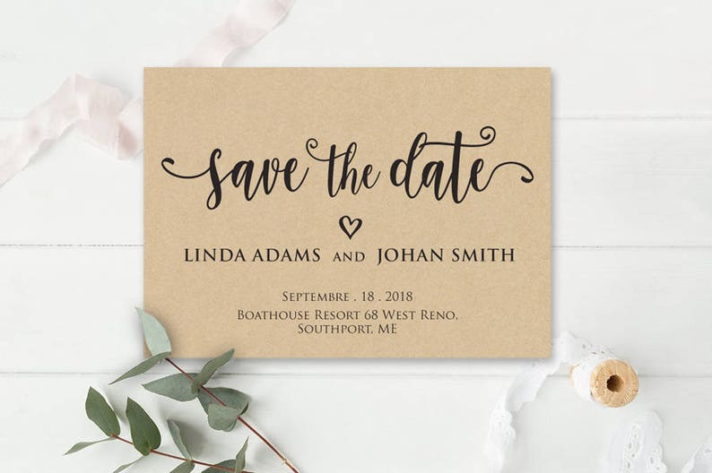Save The Date Printable Save The Date Save The Date Template Invitation Wedding Microsoft Word Format Docx Instant Download Editable