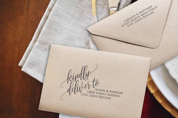 Printing Wedding Invitation Envelopes At Home: Wedding Envelopes Printable Envelope DIY Wedding Address