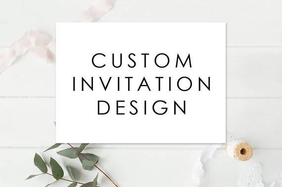 Custom Invitations Custom Invitation Design Template Etsy