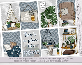 Home Sweet Home // Weekly Planner Stickers | Standard Vertical & Happy Planner (Mini, Classic, Big), Hobonichi Weeks, Passion Planner
