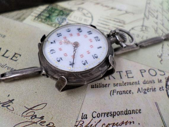 Antique Silver Lady's Pocket Watch Conversion Wris